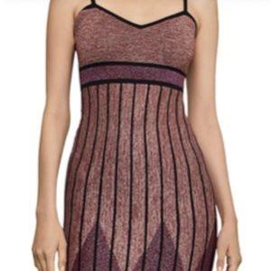 Metallic Knit Body-Con Dress
